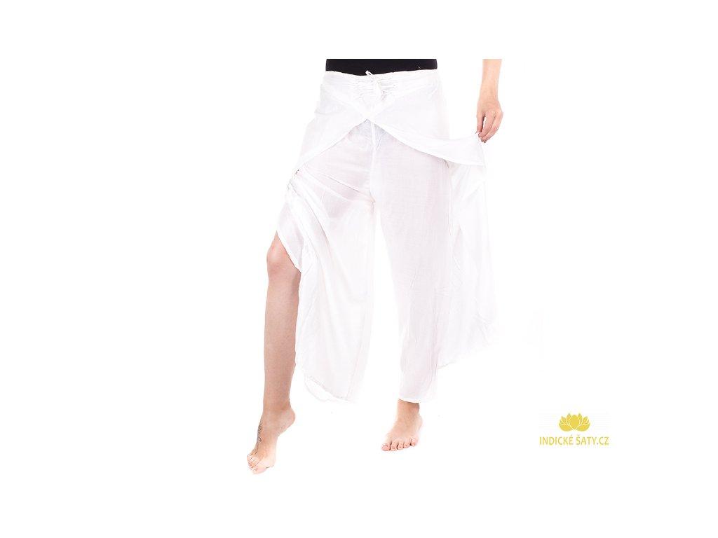 zavinovací kalhoty z Indie bílé