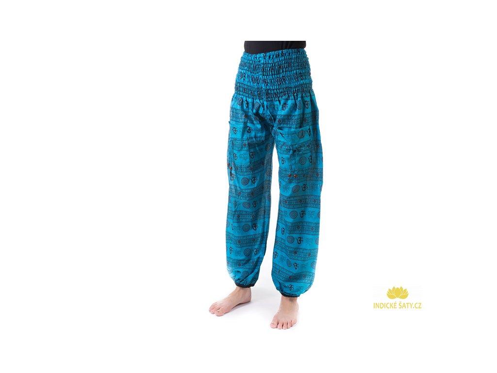 Indické kalhoty s kapsami Mantra modré