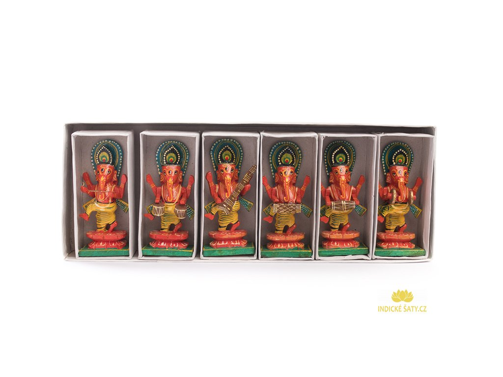 SET raritních sošek Ganéša muzikant (6 ks)