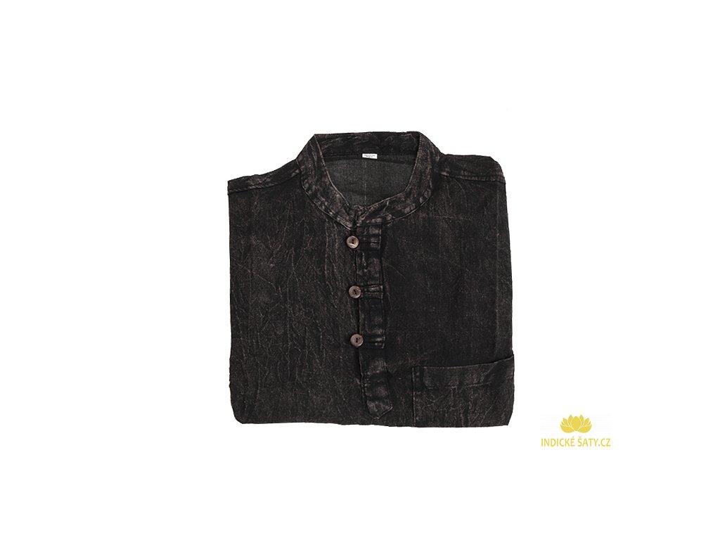 Pánská kurta stonewash černá