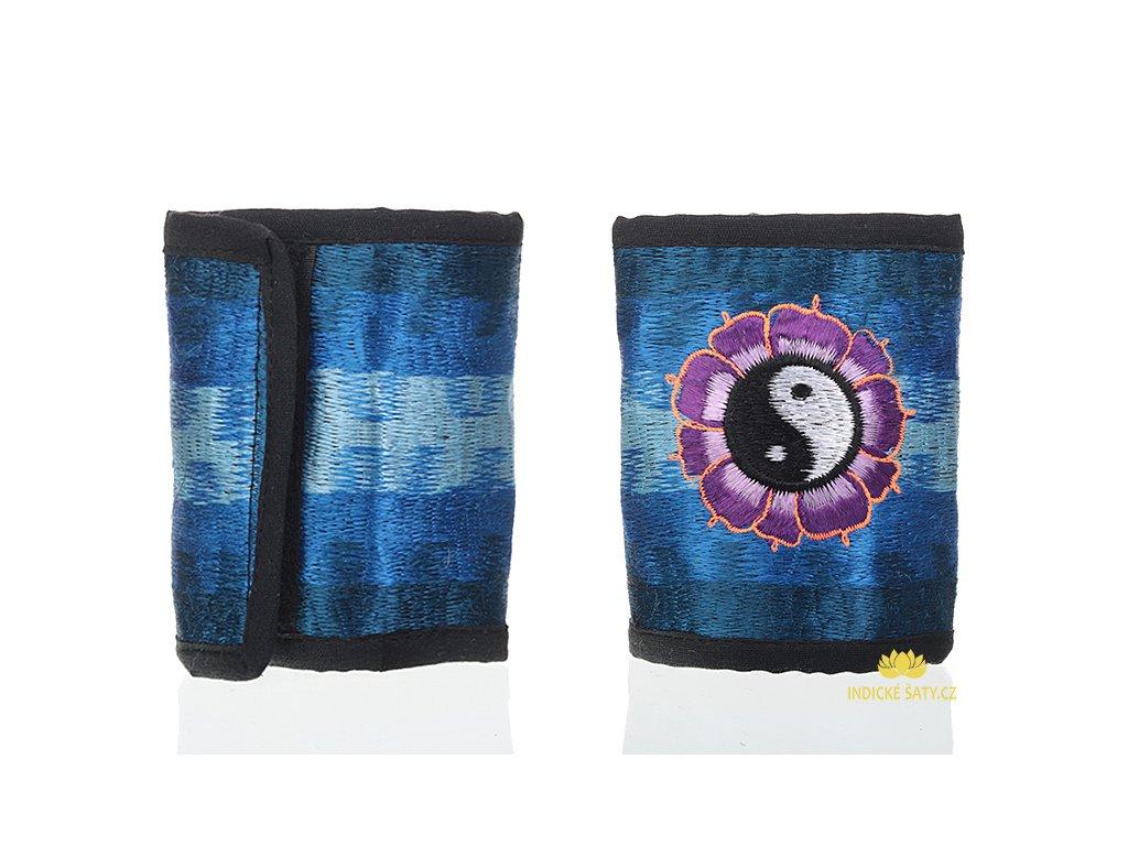 Bavlněná vyšívaná peněženka Jin a jang