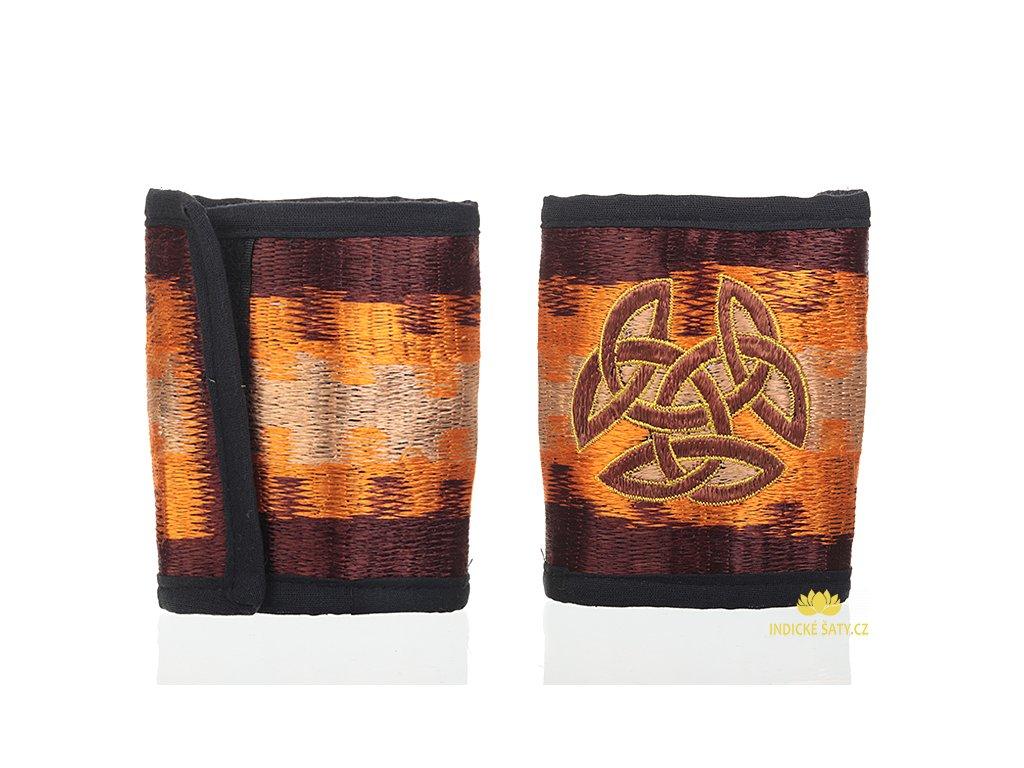 Bavlněná vyšívaná peněženka Keltika
