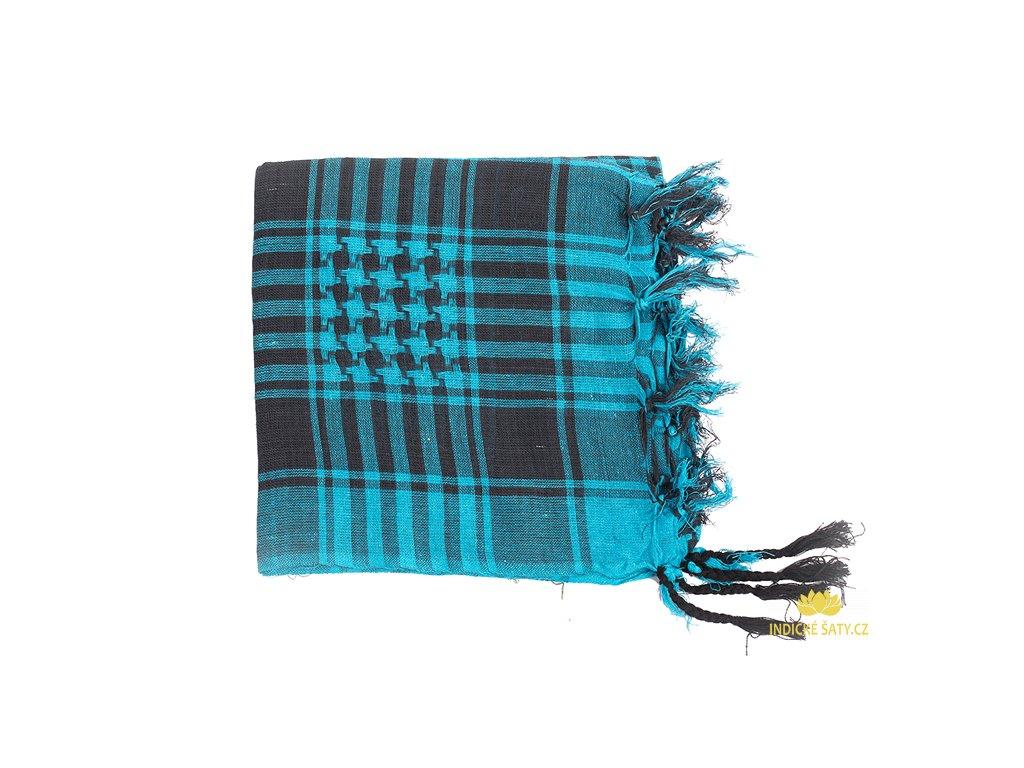 Šátek arafatka zářivě modrý