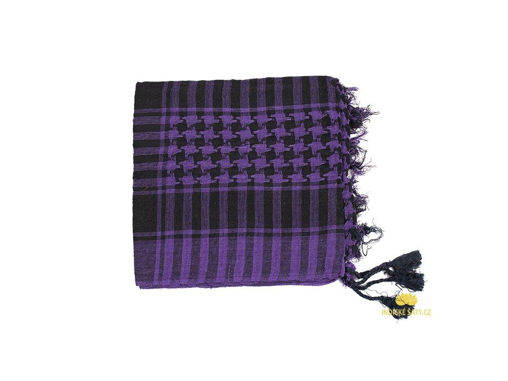 Šátek arafatka magicky fialový