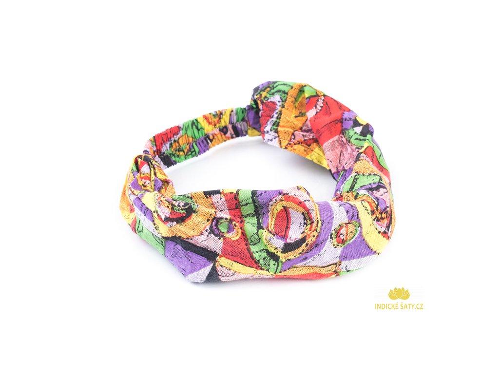 Šátek do vlasů Hippie do fialkova