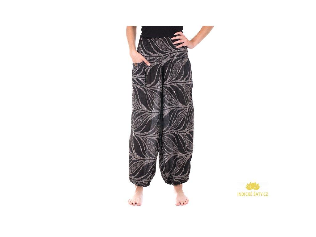 Pohodlné kalhoty z viskózy černé