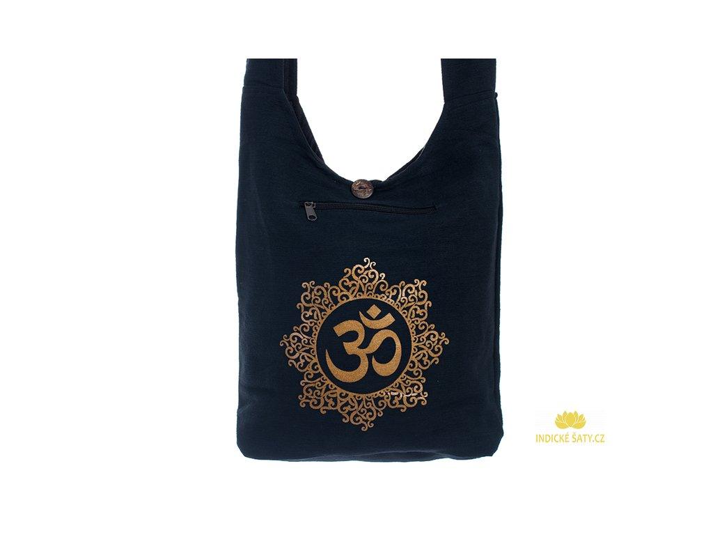 Látková taška přes rameno Gold&Black Óm