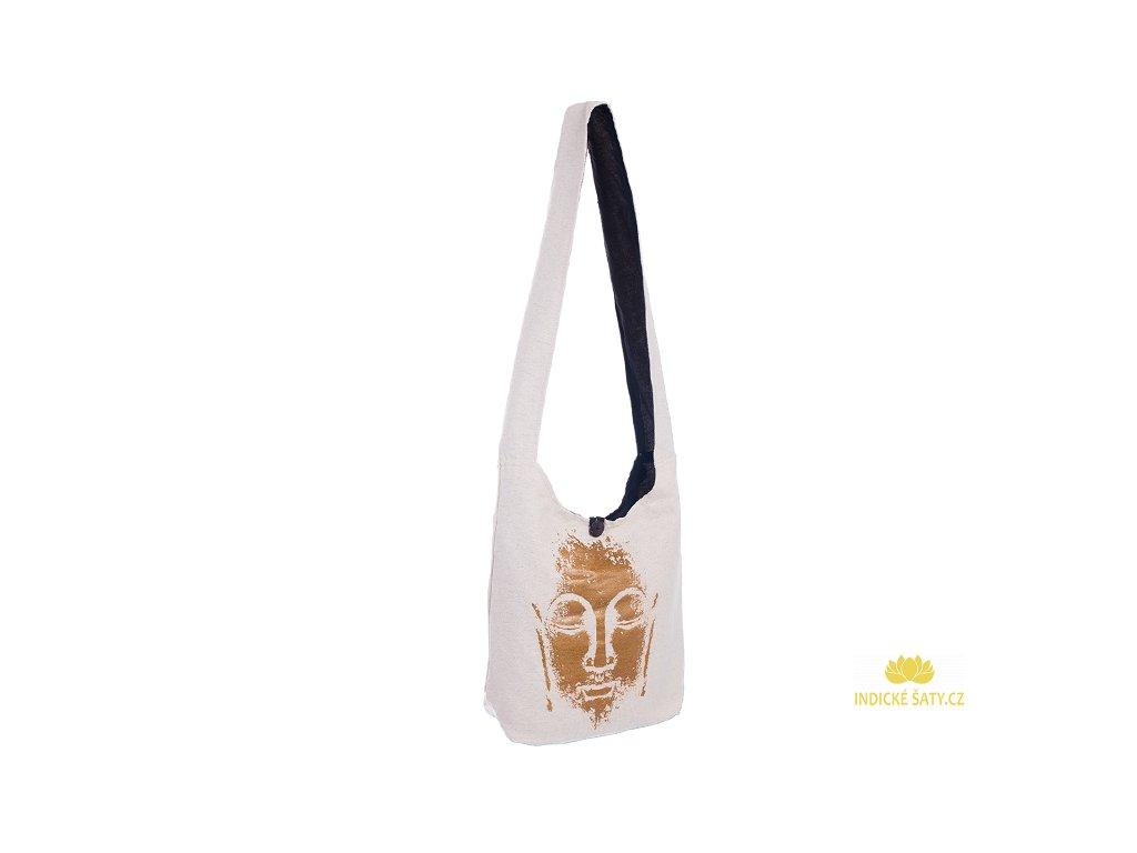 Látková taška přes rameno Gold&Nature white Buddha