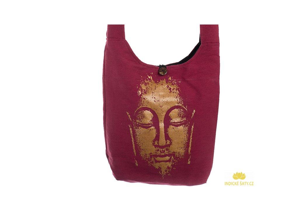 Látková taška přes rameno Gold&Maroon Buddha