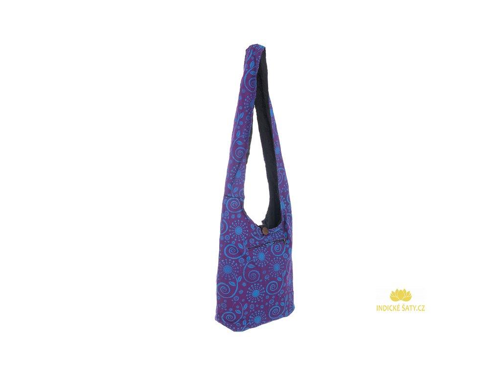 Látková taška přes rameno Květiny fialová