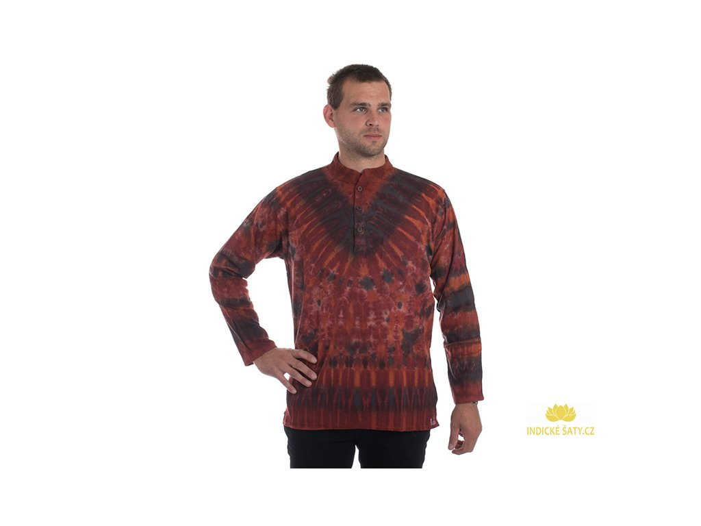 Batikovaná kurta červená