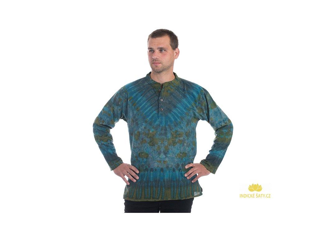 Batikovaná kurta modrá
