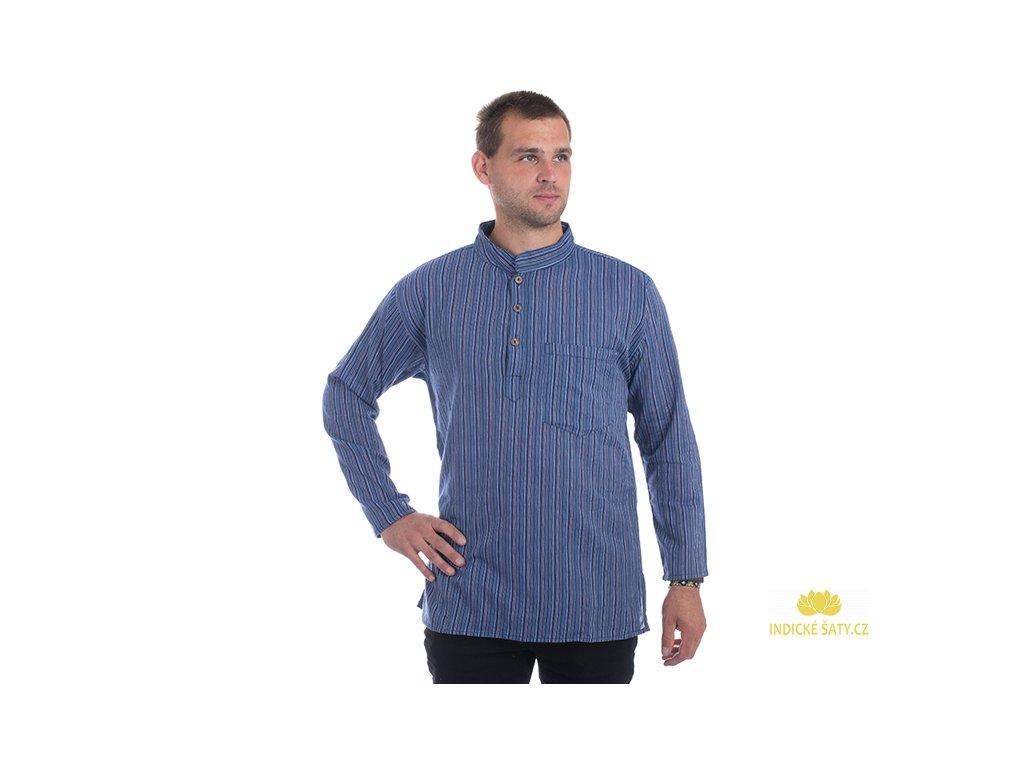 Pruhovaná kurta modrofialová