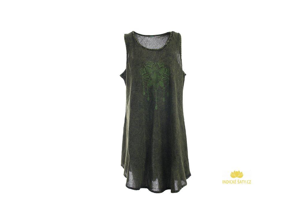 Bavlněné šaty Lapač snů zelené