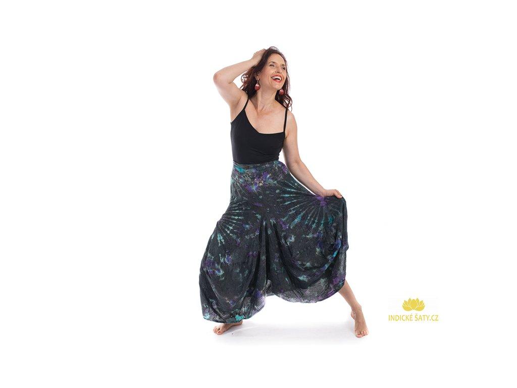 Batikovaná sukně stonewash černá