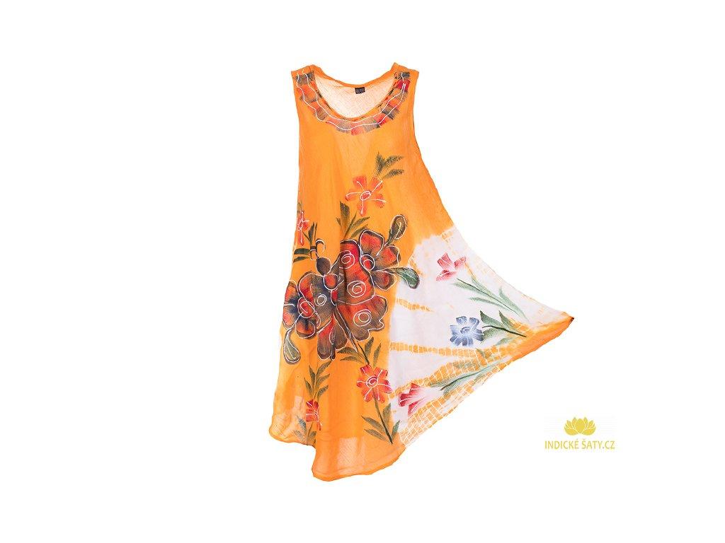 Ručně malované oranžové s motýlem
