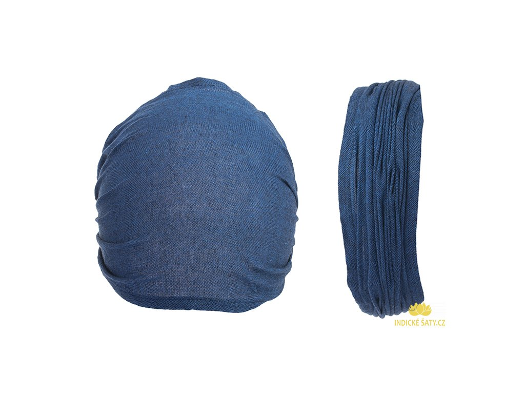 Látková čelenka do vlasů královsky modrá
