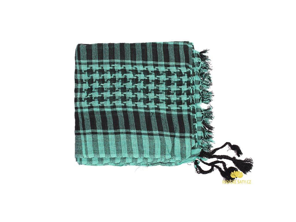 Šátek arafatka zářivě tyrkysovozelená