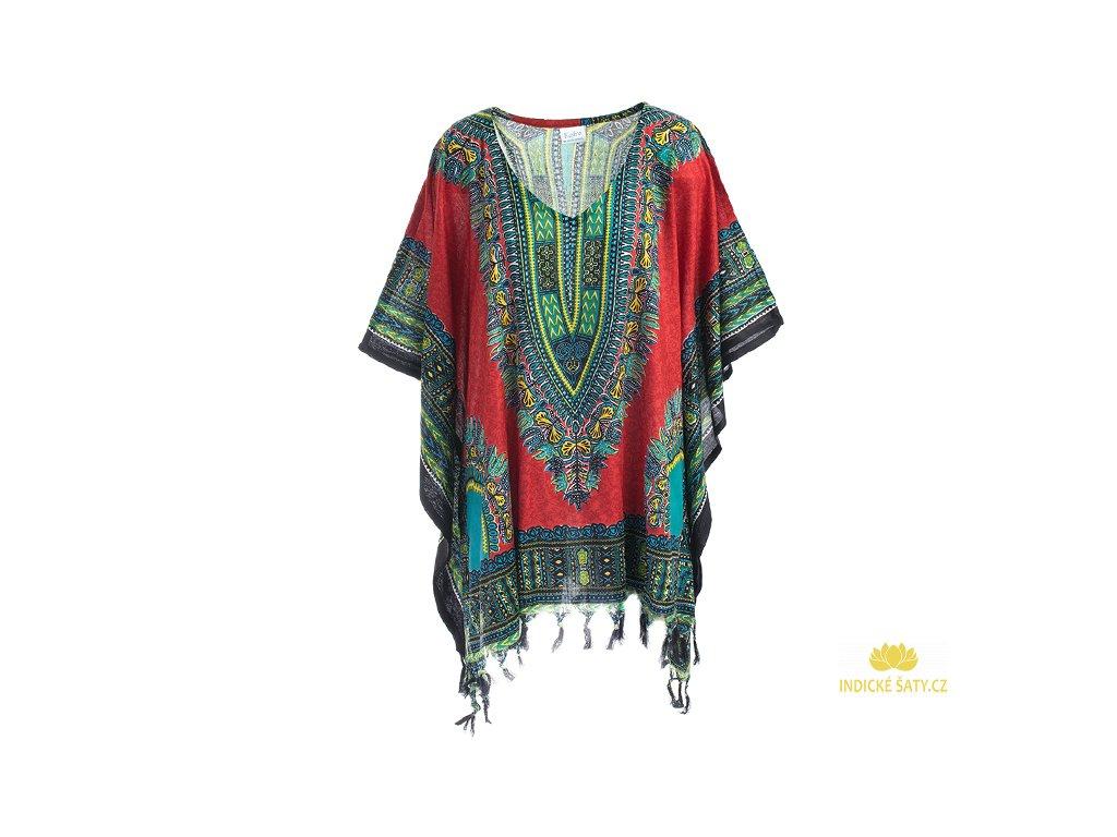 Tunika Africa style červená
