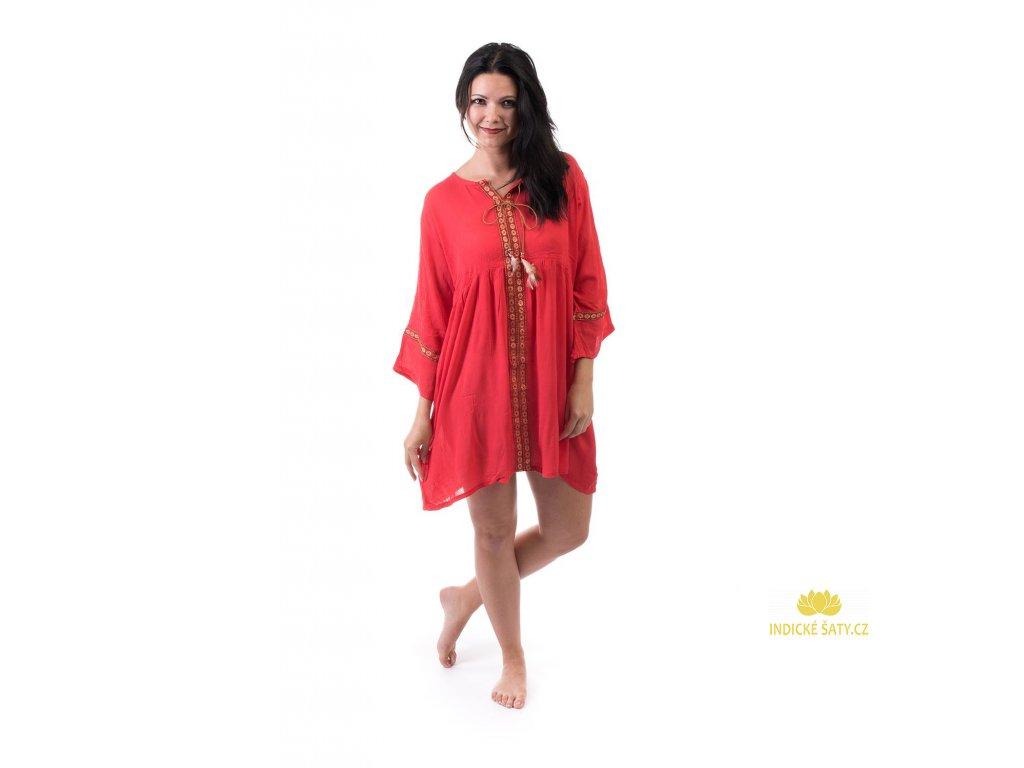 tunikové šaty červené