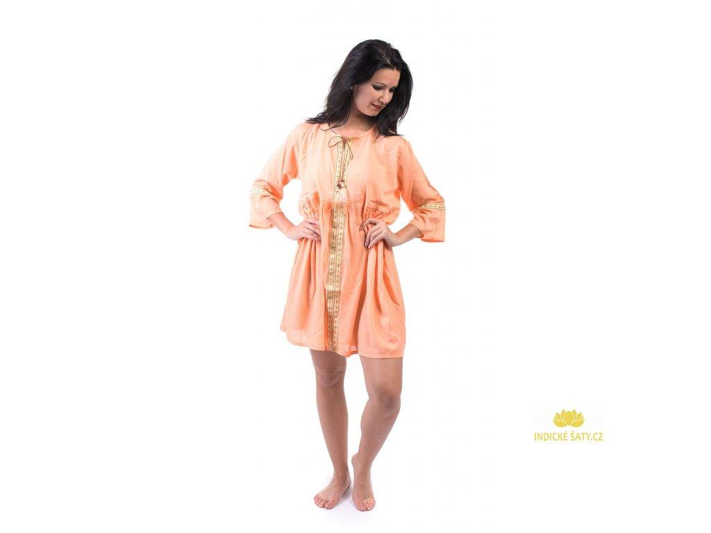 Lehounké tunikové šaty béžové