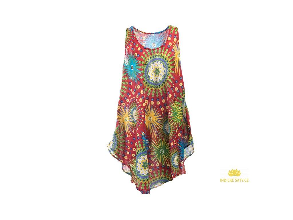 Letní šaty bez rukávů červené