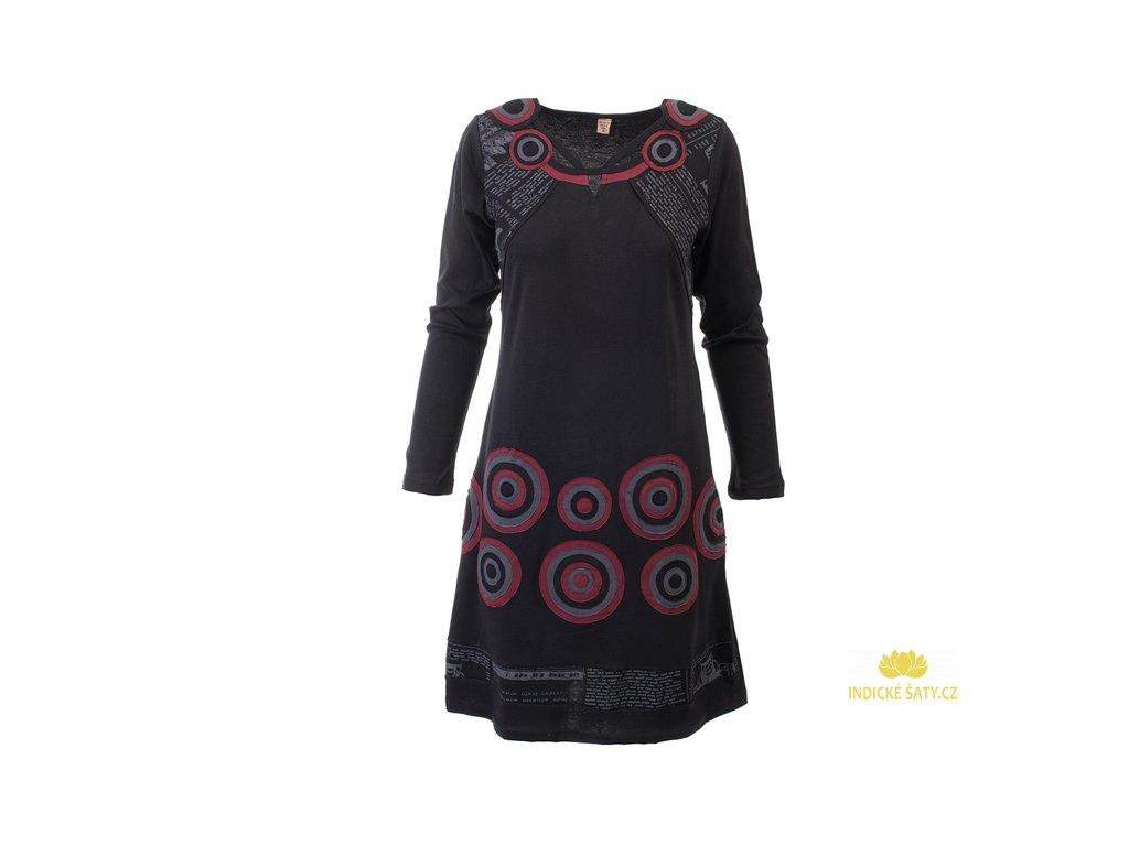 Originální černé šaty z organické bavlny