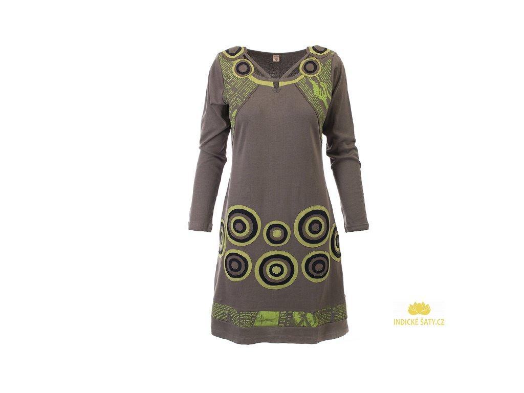 Originální zelené šaty z organické bavlny