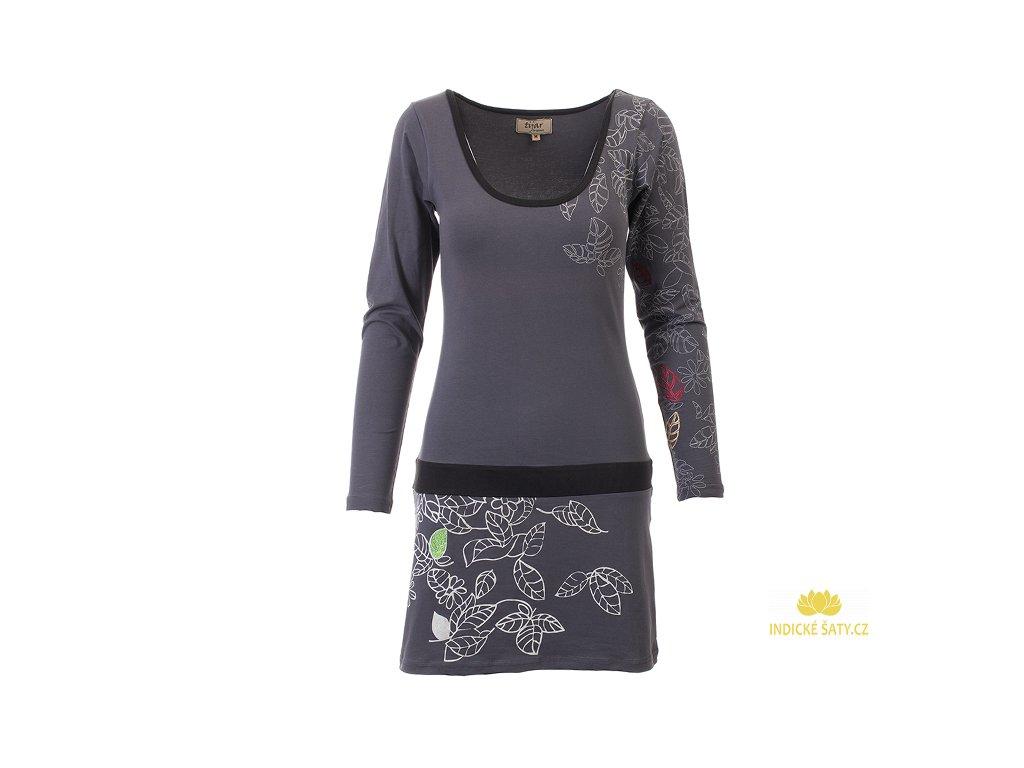 Šedé šaty z organické bavlny