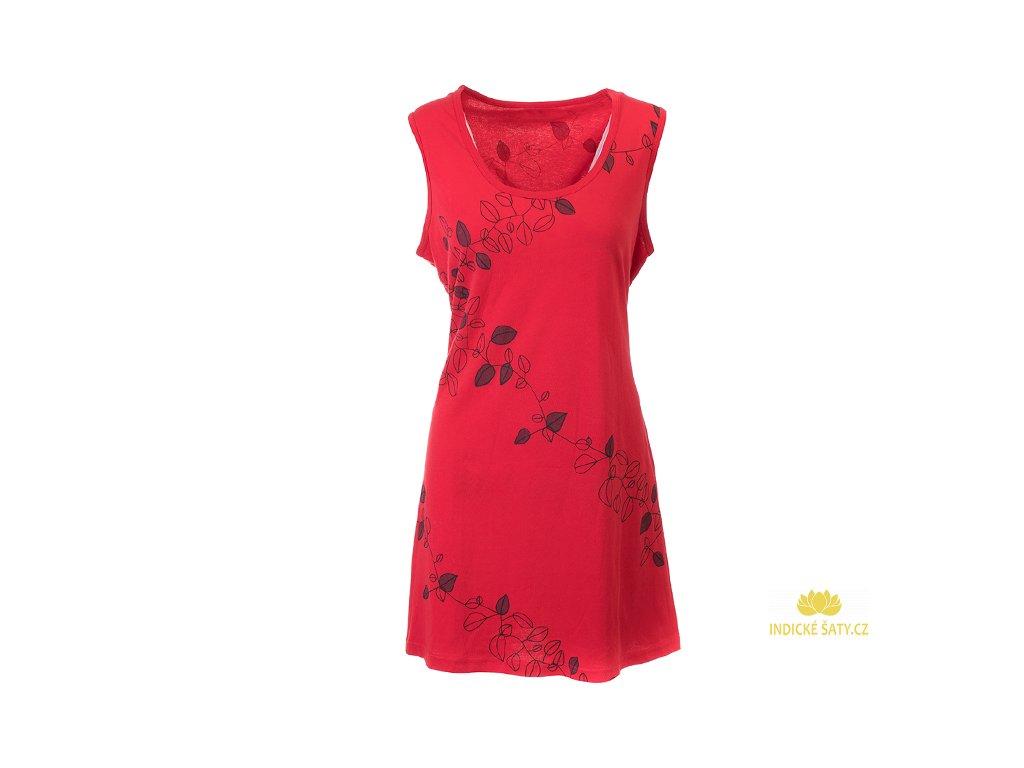Červená šatovka z organické bavlny