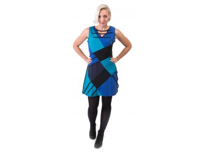 Originální etno šaty modré