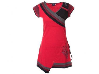 Krátké sportovní šaty s krátkým rukávem červené