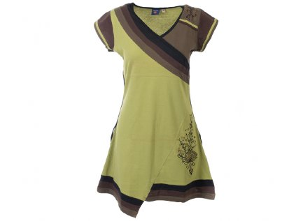 Krátké sportovní šaty s krátkým rukávem světle zelené