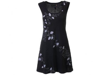 Černá šatovka z organické bavlny