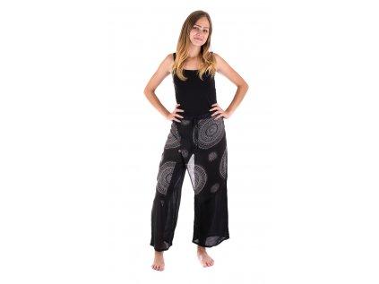 Etno kalhoty se sukní černobílé