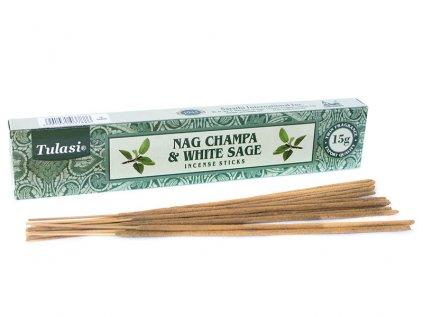 Vonné tyčinky Nag Champa & White sage 15 g