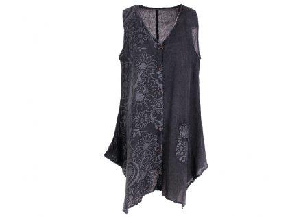 Propínací šaty z bavlny černé