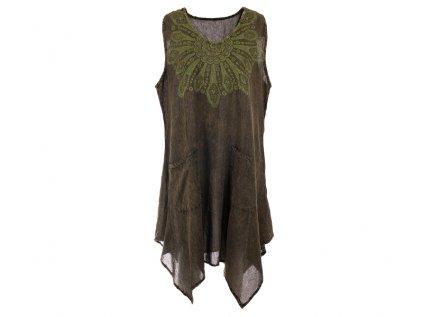 Bavlněné šaty s kapsam