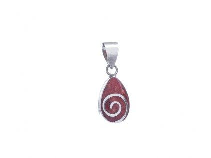 Stříbrný přívěšek s červeným korálem