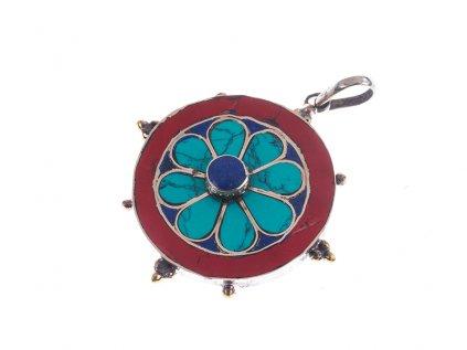 Ochranný tibetský amulet Kolo osudu