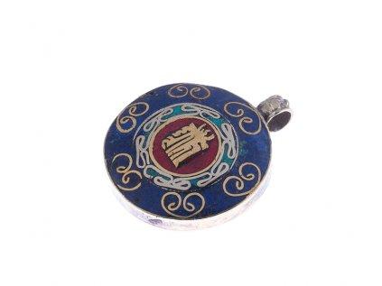 Ochranný tibetský amulet Óm tibetský