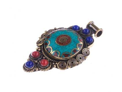 Ochranný tibetský amulet Spirála