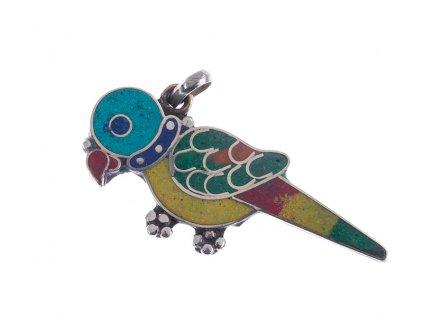 Originální tibetský amulet Ptáček