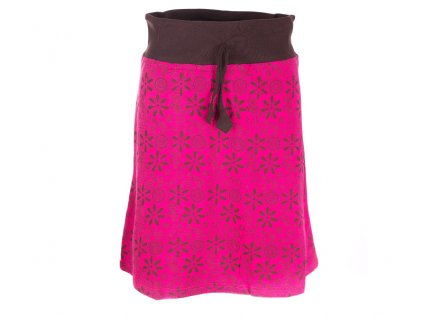 Krátká bavlněná sukně fuchsiová