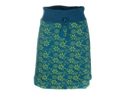 Krátká bavlněná sukně petrolejově modrá