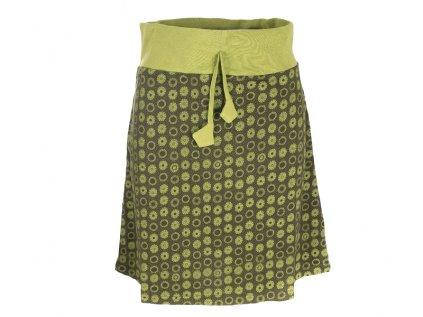 Krátká bavlněná sukně khaki zelená