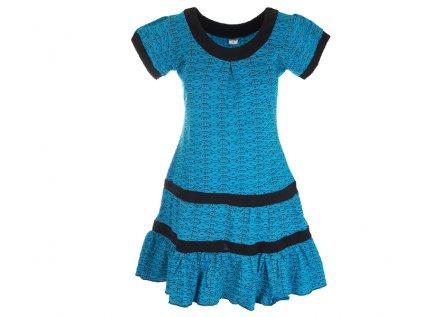 krátké bavlněné šaty zářivě modré
