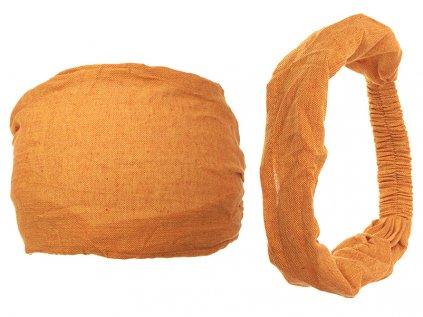 Látková čelenka do vlasů afrikánová žlutá