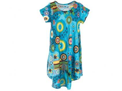 Letní šaty s rukávky světle modré