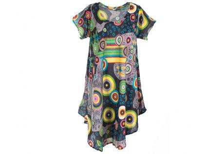 Letní šaty s rukávky černošedé